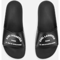 Karl Lagerfeld Men's Kondo Maison Karl Slide Sandals - Black - UK 8