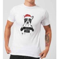 Let It Snow Frenchie Christmas Men's T-Shirt - White - XXL - White - Snow Gifts
