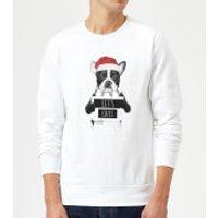Let It Snow Frenchie Christmas Sweatshirt - White - XXL - White - Snow Gifts