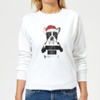 Let It Snow Frenchie Christmas Women's Sweatshirt - White - M - White - Snow Gifts