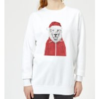 Santa Lion Women's Sweatshirt - White - M - White