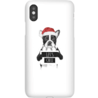 Image of Balazs Solti Let It Snow Frenchie Christmas Phone Case for iPhone and Android - Samsung S7 Edge - Snap Case - Matte