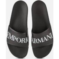 Emporio Armani Men's Slide Sandals - Black/White - UK 9