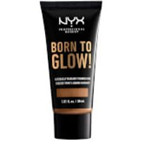 NYX Professional Makeup Born to Glow Naturally Radiant Foundation 30ml (Various Shades) - Warm Honey
