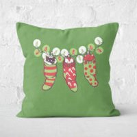 Jingle Meow Square Cushion - 60x60cm - Eco Friendly - Eco Friendly Gifts