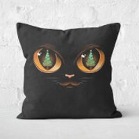 Xmas Cat Attack Square Cushion - 60x60cm - Eco Friendly - Eco Gifts