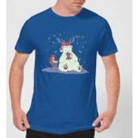 Tobias Fonseca Polar Xmas Eggnog Men's T-Shirt - Royal Blue - L - Royal Blue