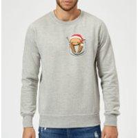 Tobias Fonseca Sloth In A Pocket Xmas Sweatshirt - Grey - XL - Grey