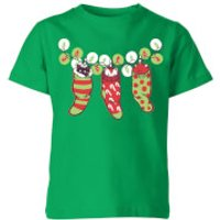Tobias Fonseca Jingle Meow Kids' T-Shirt - Kelly Green - 3-4 Years - Kelly Green
