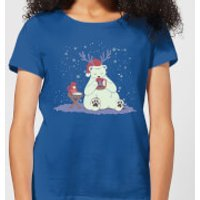 Polar Xmas Eggnog Women's T-Shirt - Royal Blue - M - Royal Blue