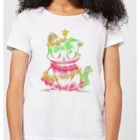 Meow Catmas Lights Women's T-Shirt - White - L - White