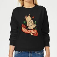 Merry Xmas Cat Women's Sweatshirt - Black - M - Black