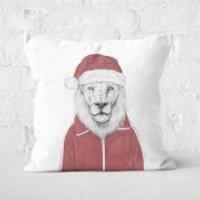 Santa Lion Square Cushion - 60x60cm - Eco Friendly - Eco Gifts