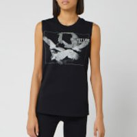 Helmut Lang Women's Sleeveless T-Shirt Eagle - Basalt Black - XS