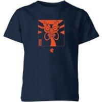 Samurai Jack Aku Kanji Kids' T-Shirt - Navy - 7-8 Years - Navy