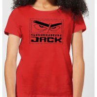 Samurai Jack Stylised Logo Women's T-Shirt - Red - XL - Red