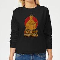 Samurai Jack My Quest Continues Women's Sweatshirt - Black - L - Black