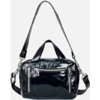 shop for Núnoo Women's Donna Gloss Leather Shoulder Bag - Black at Shopo
