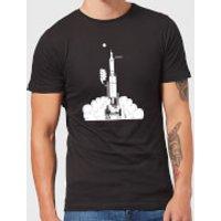 Modern Toss Space Argument Rocket Men's T-Shirt - Black - 3XL - Black