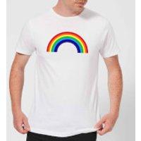 Classic Rainbow Men's T-Shirt - White - S - White