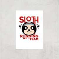 Sloth Running Team Art Print - A2 - Print Only - Athletics Gifts