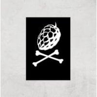 Hop'n Cross Bones Art Print - A2 - Print Only