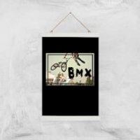 BMX Jump Art Print - A3 - Wood Hanger - Bmx Gifts