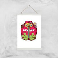Hippie Psychedelic Cartoon Art Print - A3 - Wood Hanger - Hippie Gifts
