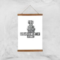 You Are Such A Perfect Little Arrangement Of Atoms Art Print - A3 - Wood Hanger