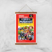 Nintendo Retro Super Mario Kart Cover Art Print - A3 - Wood Hanger