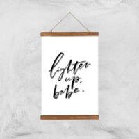 PlanetA444 Lighten Up, Babe Art Print - A3 - Wood Hanger