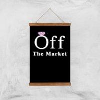 Off The Market Art Print - A3 - Wood Hanger