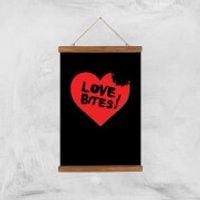 Love Bites Art Print - A3 - Wood Hanger