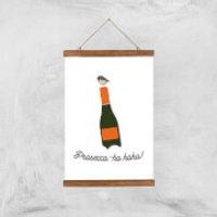 Prosecco-ho-ho Art Print - A3 - Wood Hanger