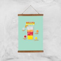 Infographic Sex On The Beach Art Print - A3 - Wood Hanger - Sex Gifts