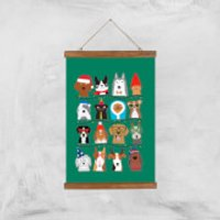 Merry Dogmas Art Print - A3 - Wood Hanger