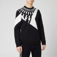 Neil Barrett Men's Cut and Sew Sweatshirt - Black/White - L