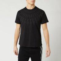 Neil Barrett Men's Fairisle Thunderbolt Bolt T-Shirt - Black - L