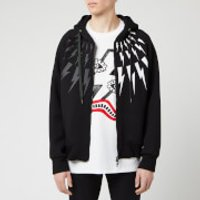 Neil Barrett Men's Fairisle Thunderbolt Bonded Hoody - Black - S