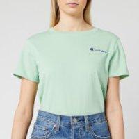 Champion Women's Small Script T-Shirt - Mint Green - S