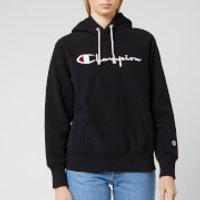 Champion Women's Big Script Hooded Sweatshirt - Black - S