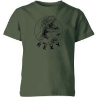 How Ridiculous Rexy Kids' T-Shirt - Forest Green - 3-4 Years - Forest Green