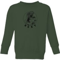 How Ridiculous One Shots Rexy Kids' Sweatshirt - Forest Green - 11-12 Years - Forest Green - Shots Gifts
