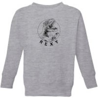 How Ridiculous One Shots Rexy Kids' Sweatshirt - Grey - 11-12 Years - Grey - Shots Gifts