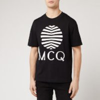 McQ Alexander McQueen Men's Dropped Shoulder Logo T-Shirt - Darkest Black - L