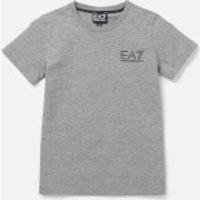 Emporio Armani EA7 Boys Small Logo Short Sleeve T-Shirt - Medium Grey Melange - 8 Years