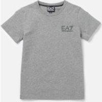 Emporio Armani EA7 Boys' Small Logo Short Sleeve T-Shirt - Medium Grey Melange - 4 Years
