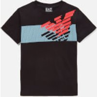 Emporio Armani EA7 Boys' Large Eagle Short Sleeve T-Shirt - Black - 8 Years