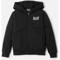 Emporio Armani EA7 Boys' Full Zip Hoody - Black - 8 Years