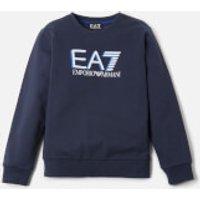 Emporio Armani EA7 Boys' Large Logo Sweatshirt - Navy - 8 Years